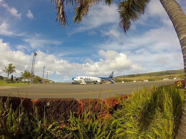 LAN Airlines' 767 at Easter Island's Airport